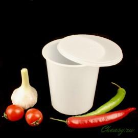 Контейнер стаканчик с крышкой для мягкого сыра, творога, сметаны, на 0,75л, Anelli Lodi