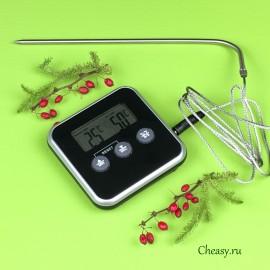 Электронный термометр-таймер с выносным датчиком