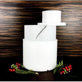 Форма для сыра на 1500г, цилиндрическая, с вкладышем, с поршнем, Манчего
