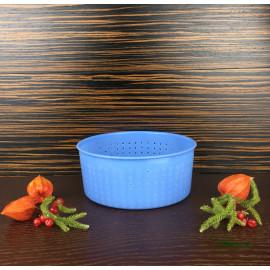 Форма для сыра на 1800г, низкая, сетчатая перфорация, тип Качотта (Caciotta)