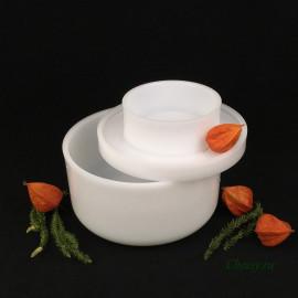 Форма для сыра на 1 кг, цилиндрическая с поршнем, под пресс, для твердых и полутвердых сыров