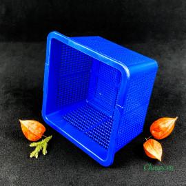 Форма для сыра на 1000г, квадратная корзинка, синяя