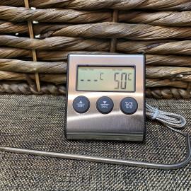 Кухонный электронный термометр-таймер с выносным щупом