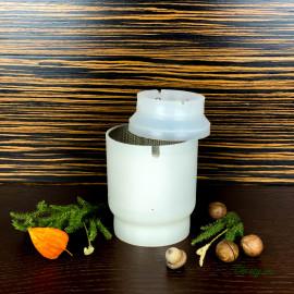 Форма для сыра до 500г, шар, с поршнем под пресс и перфовставкой, Крошка Гауда, Эдам, Ламбер