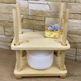 Пресс для сыра деревянный, малый
