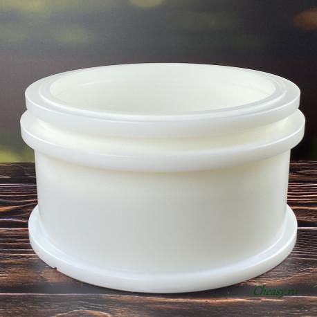 Форма для сыра до 5000г, микроперфорация, цилиндр, с поршнем под пресс, насечка - Манчего