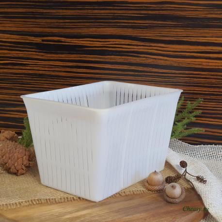 Форма для сыра на 1000-1500г, прямоугольная корзинка, для мягких сыров, Anelli Lodi