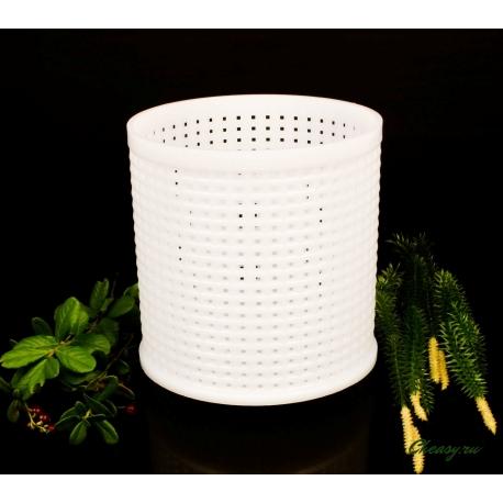 Форма для сыра Камамбер (цилиндрическая перфорированная полимерная d120x120mm)