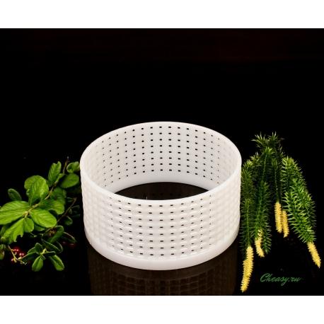 Форма для сыра Камамбер, кольцо (без дна) (цилиндрическая перфорированная полимерная d120x58mm)