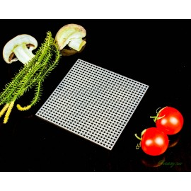Коврик дренажный полимерный белый, 10.7х10.7 см