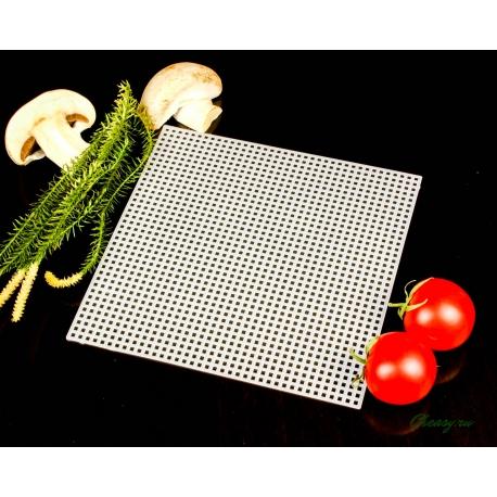 Коврик дренажный полимерный белый, размер 14х14 см