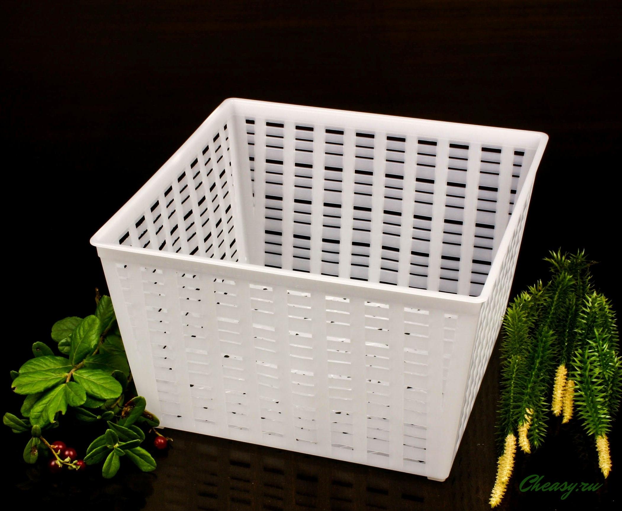 форма для сыра на 1000 г квадратная корзинка для мягких сыров